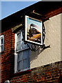 TM4557 : The Railway Public Inn House sign by Adrian Cable