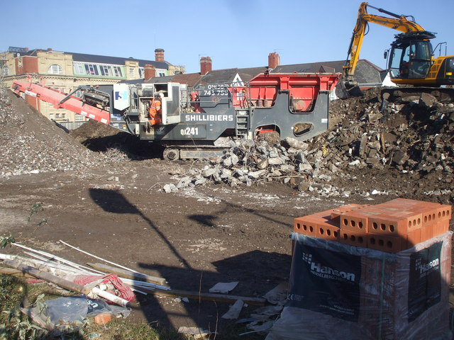 Building site clearance, Newport by John Lord