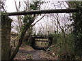 SN9902 : Pipelines and a road bridge in  Dare Valley Country Park by Jaggery