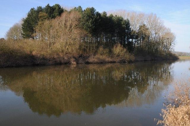 Brickpits Plantation and the River Severn
