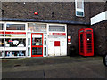 TM4462 : Leiston Post Office & Royal Mail 14 Sizewell Road Postbox by Adrian Cable