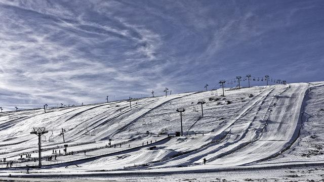 Slopes of the Lecht Ski Centre
