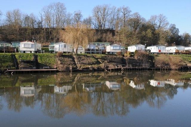 Riverside caravan park, Clevelode