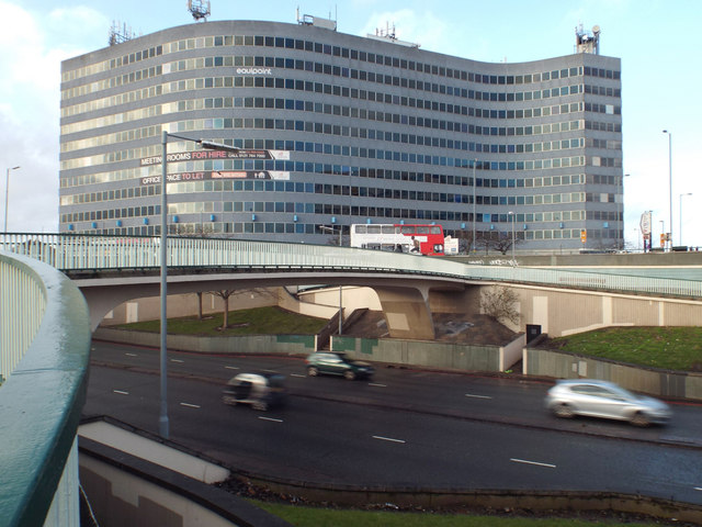Footbridge over the A45 Coventry Road at South Yardley, with Equipoint