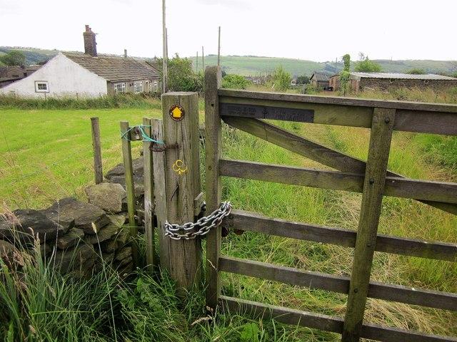 Gate on Calderdale Way