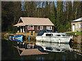 SU9950 : Boathouse,  Wey Navigation by Alan Hunt