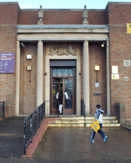 Entrance, South Yardley Library, Yardley Road