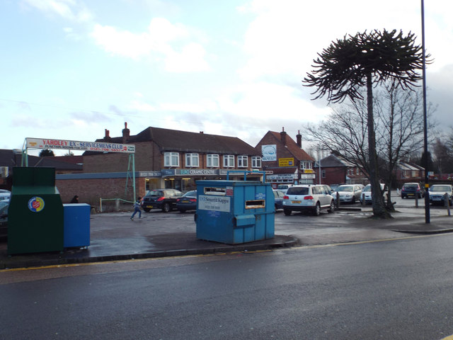 Businesses and parking, Yardley Road, South Yardley