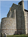 TG3225 : The tower of the church of St Nicholas in Dilham by Evelyn Simak