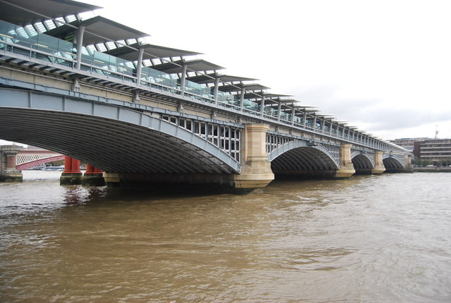 Blackfriars Station and Railway Bridge