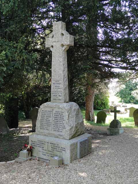 War memorial at Ten Mile Bank