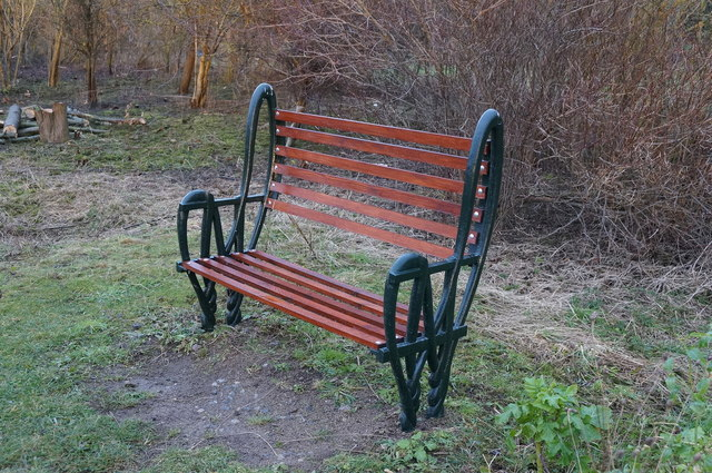 Bench at Water's  Edge Country Park