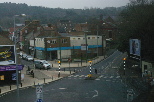 Oakengates town centre, from the railway