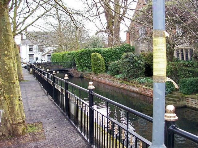 Ornamental railings in Church Walk, Bourne, Lincolnshire