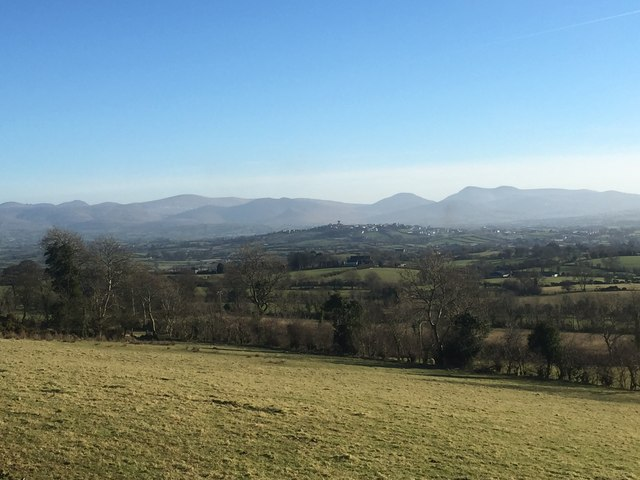 The Mournes and Rathfriland from Knockiveagh