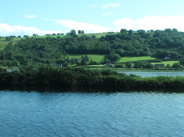 View across the Newry Canal and Newry River towards the junction of Aghnamoira Road and the A2