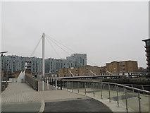 TQ3777 : Deptford Creek Swing Bridge: eastern ramp by Stephen Craven