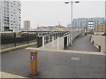 TQ3777 : Deptford Creek Swing Bridge: shared use by Stephen Craven