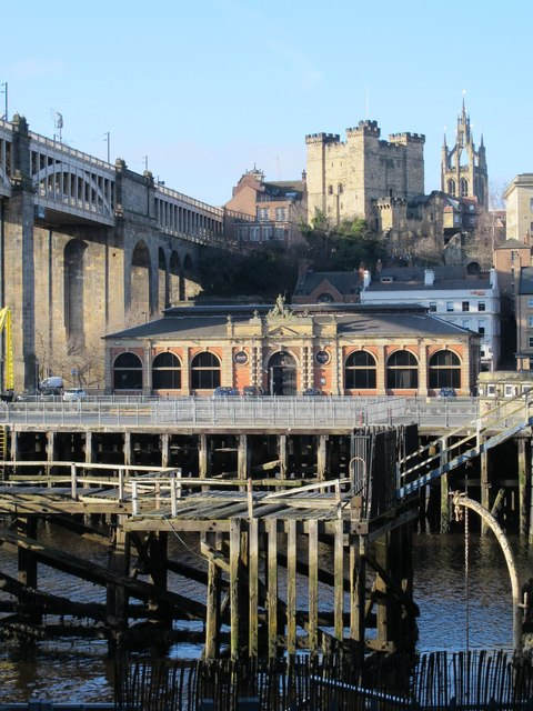 The River Tyne between the Swing Bridge and the High Level Bridge