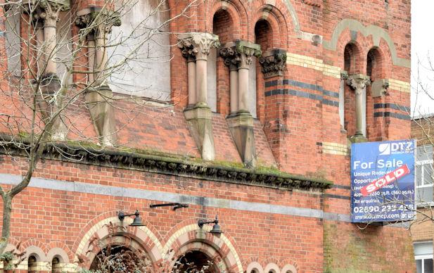 Former Methodist church, University Road, Belfast (February 2015)