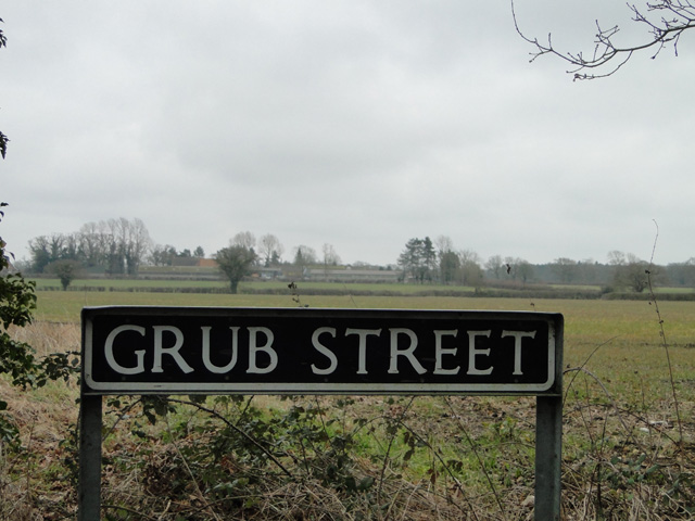 Grub Street and the fields beyond
