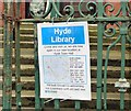 SJ9594 : Library relocation notice by Gerald England