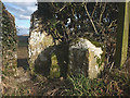 SD5376 : Boundary stone, Vicarage Lane, Burton-in-Kendal by Karl and Ali