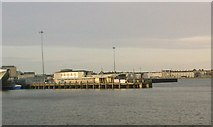 SY6878 : Weymouth: ferry terminal from the Nothe Pier by Jonathan Hutchins