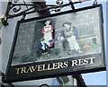 TA1242 : Sign for the Travellers Rest, Long Riston by JThomas