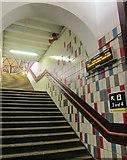 TQ2775 : Steps from the subway, Clapham Junction by Derek Harper
