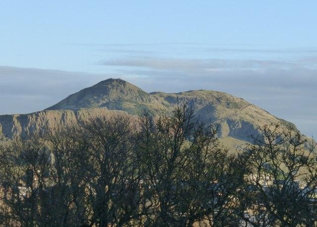 View of Arthur's Seat from Edinburgh Castle
