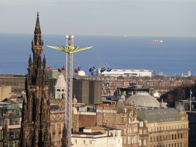Star Flyer seen from Edinburgh Castle