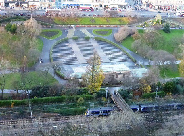 Ross Bandstand from Edinburgh Castle