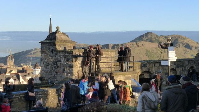 Edinburgh Castle visitors
