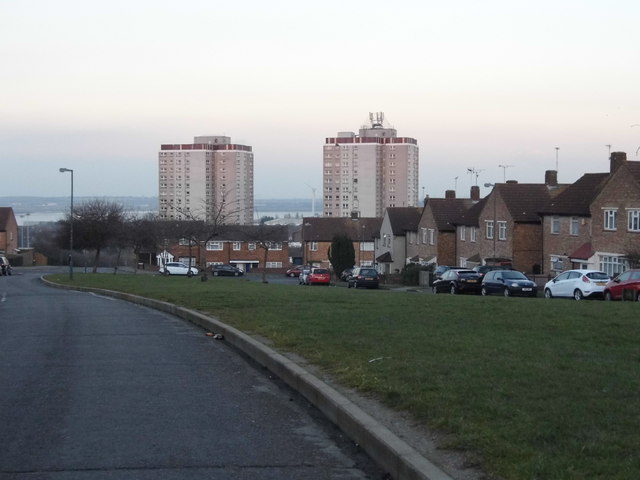View from Stuart Mantle Way, Northumberland Heath