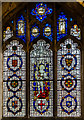 SE6051 : Stained glass window, s.V, St Martin le Grand church, York by Julian P Guffogg