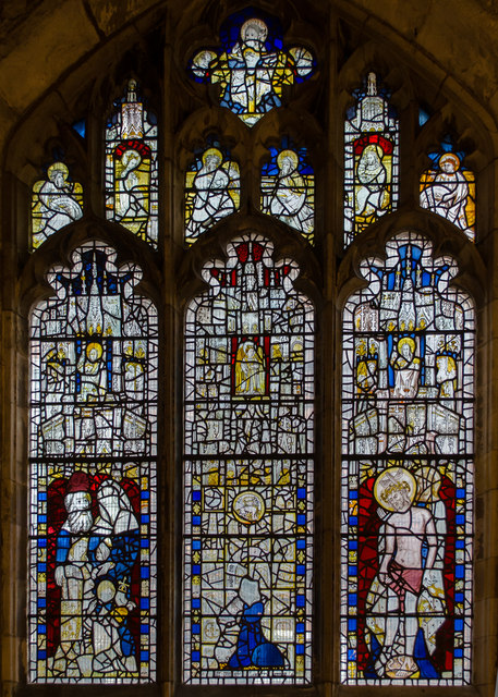 Stained glass window, s.IV, St Martin's le Grand church, York
