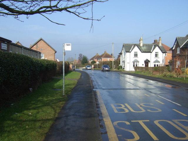 Bus stop on Main Street, Long Riston