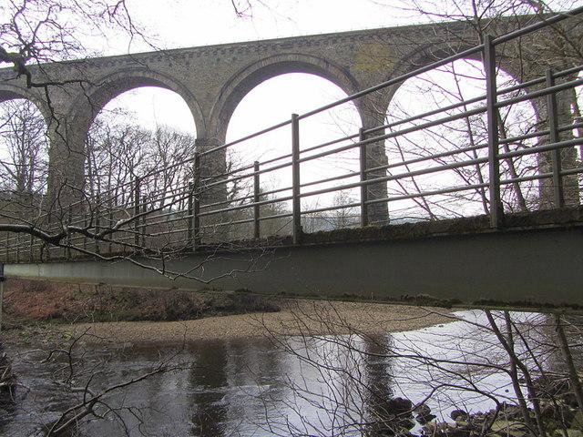Lambley Viaduct from footbridge
