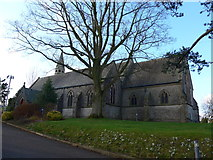 SD3876 : St Mary, Allithwaite: mid-February 2015 by Basher Eyre