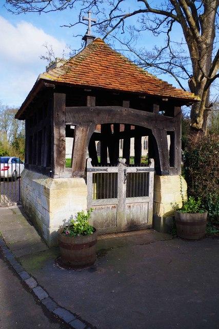 Lychgate of St. Nicholas Church, Beaudesert, Henley-in-Arden, Warks