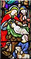 TA1701 : Detail, east window, St Nicholas' church, Cuxwold by J.Hannan-Briggs