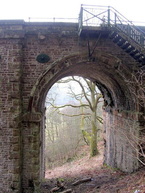 Steps at west end of Lambley Viaduct