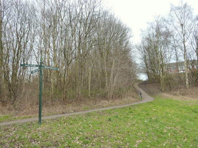 Footpath to Camberwell Crescent, Whelley