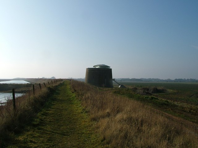 Martello Tower with modern roof room