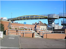 TQ2081 : Footbridge across the A40 by Dr Neil Clifton