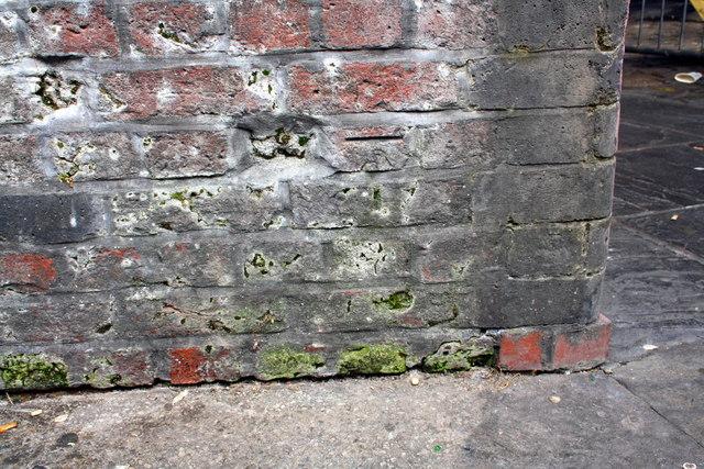 Benchmark on New Wakefield Street wall