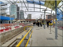 SJ8499 : Manchester Victoria Station, New Metrolink Platform (Feb 2015) by David Dixon