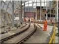 SJ8498 : Metrolink Track Work at Victoria Station (February 2015) by David Dixon