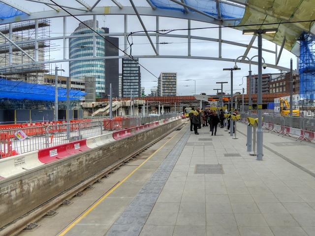 Manchester Victoria Metrolink Platform (February 2015)